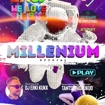 WE LOVE THE 90´S FESTIVAL AMETLIK AFTERPARTY – MILLENNIUM SPECIAL